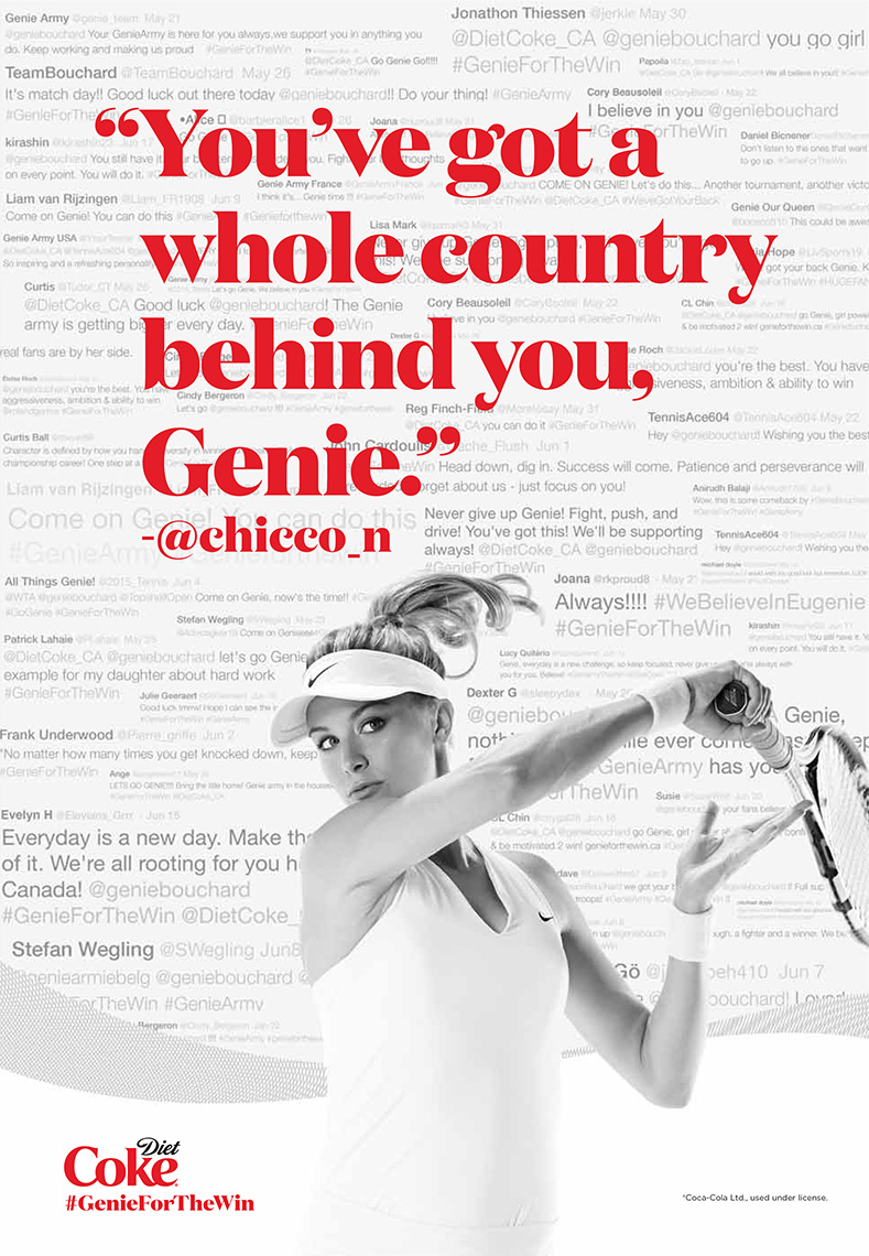 Genie Bouchard for Diet Coke.
