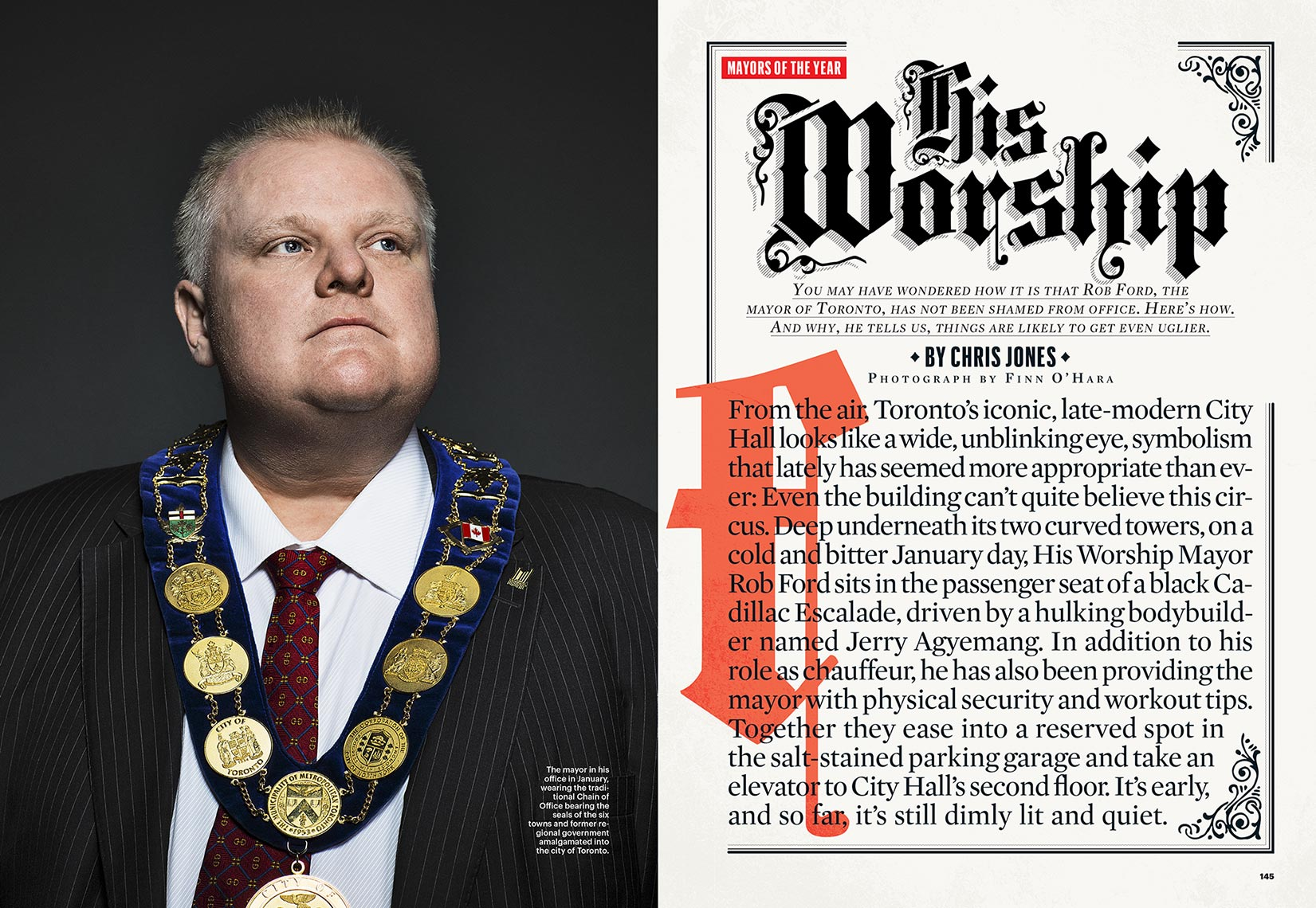 Rob Ford for Esquire Magazine
